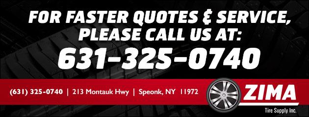 Tire Quotes Custom Tire Services  Zima Tire Supply Inc.